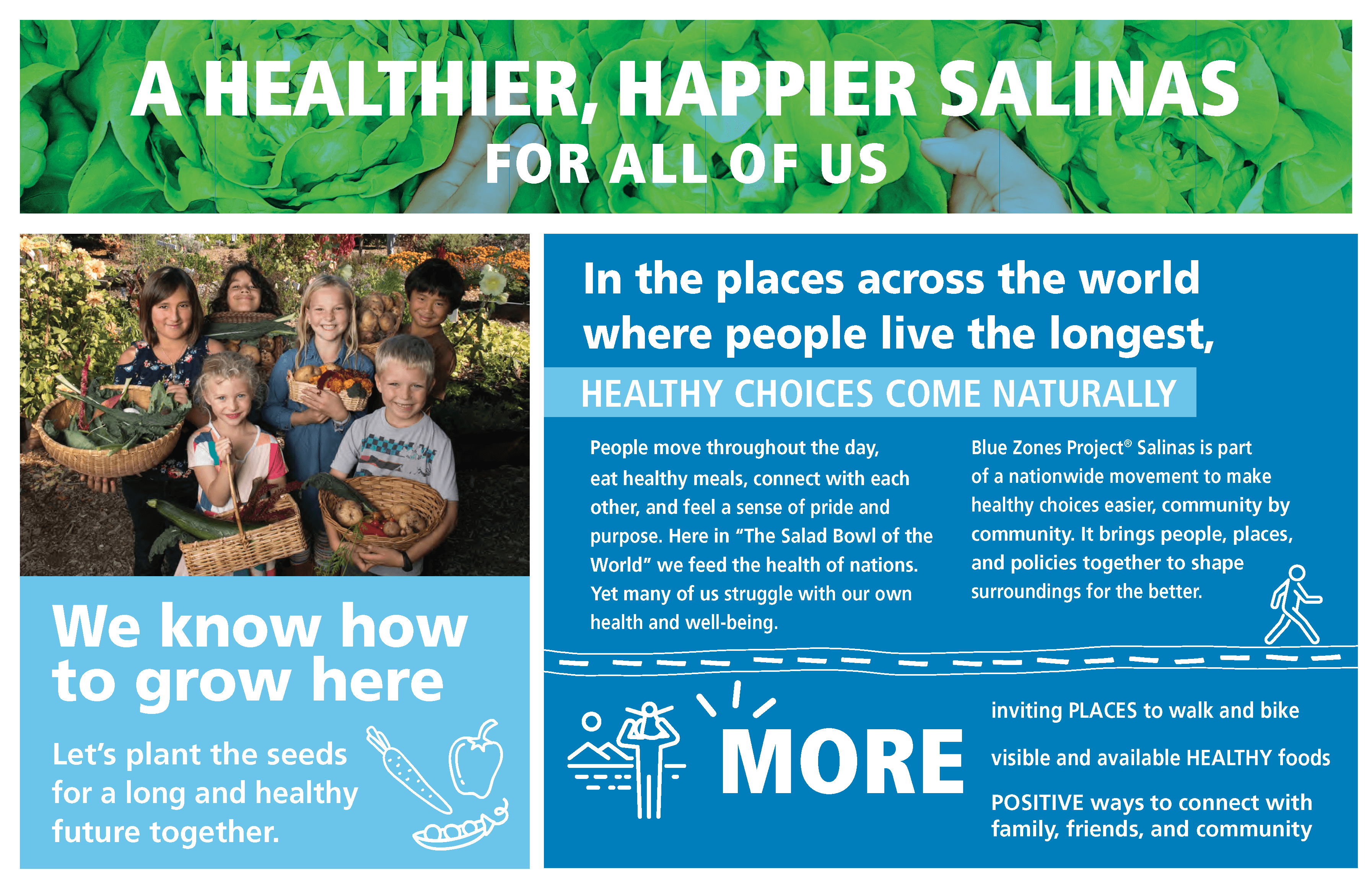 A Healthier, Happier Salinas for All of Us. Healthy choices come naturally.